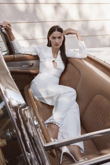 Rowley Hesselballe Beyza Bridal Jumpsuit White