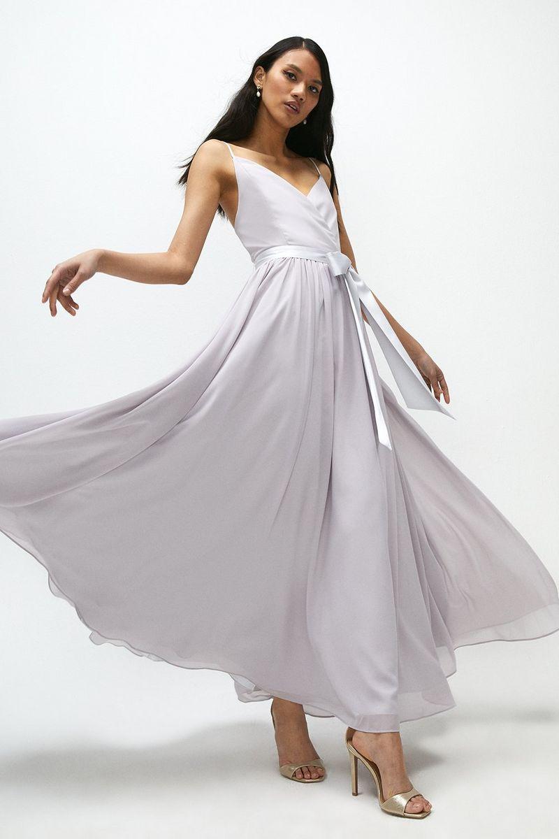 Plunge Neckline Strappy Maxi Dress