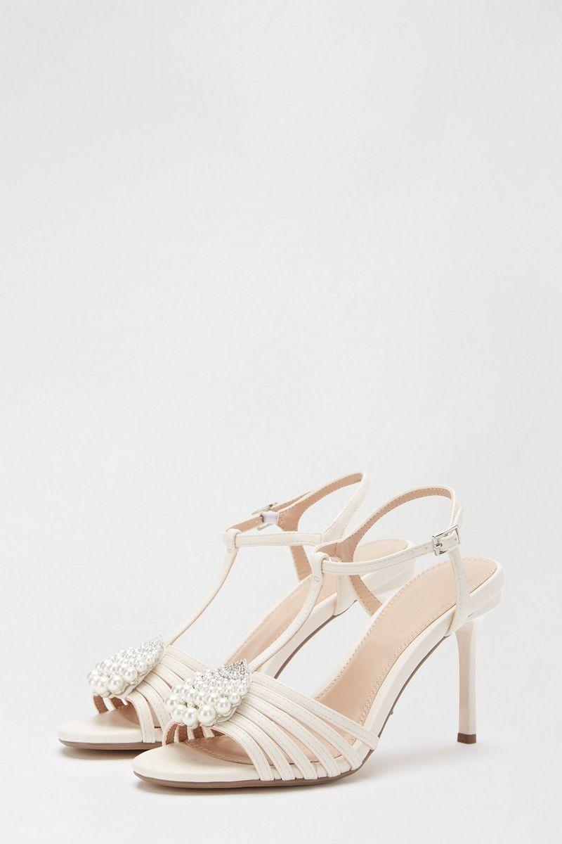 Dorothy Perkins Showcase White Style Pearl T-bar Sandal