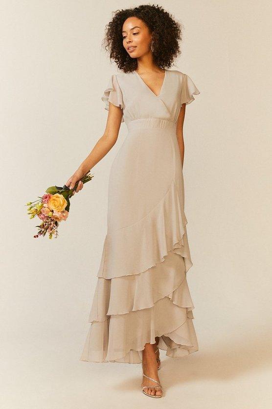 Ruffle Hem Tiered Maxi Dress