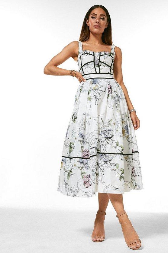 Botanical Floral Silk Cotton Dress