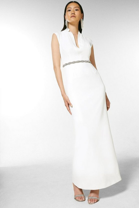 Structured Crepe Forever Maxi Dress
