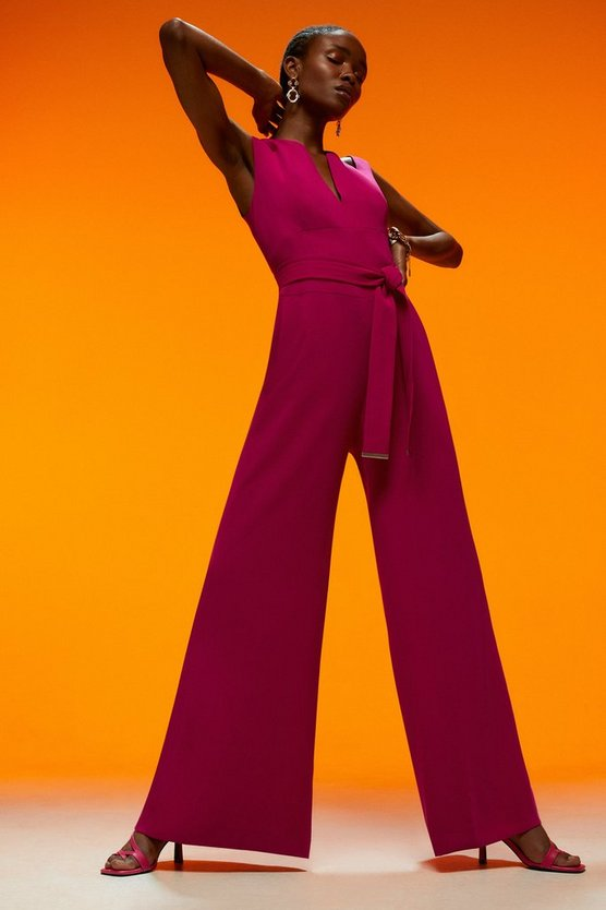 Soft Tailored Wide Leg Jumpsuit