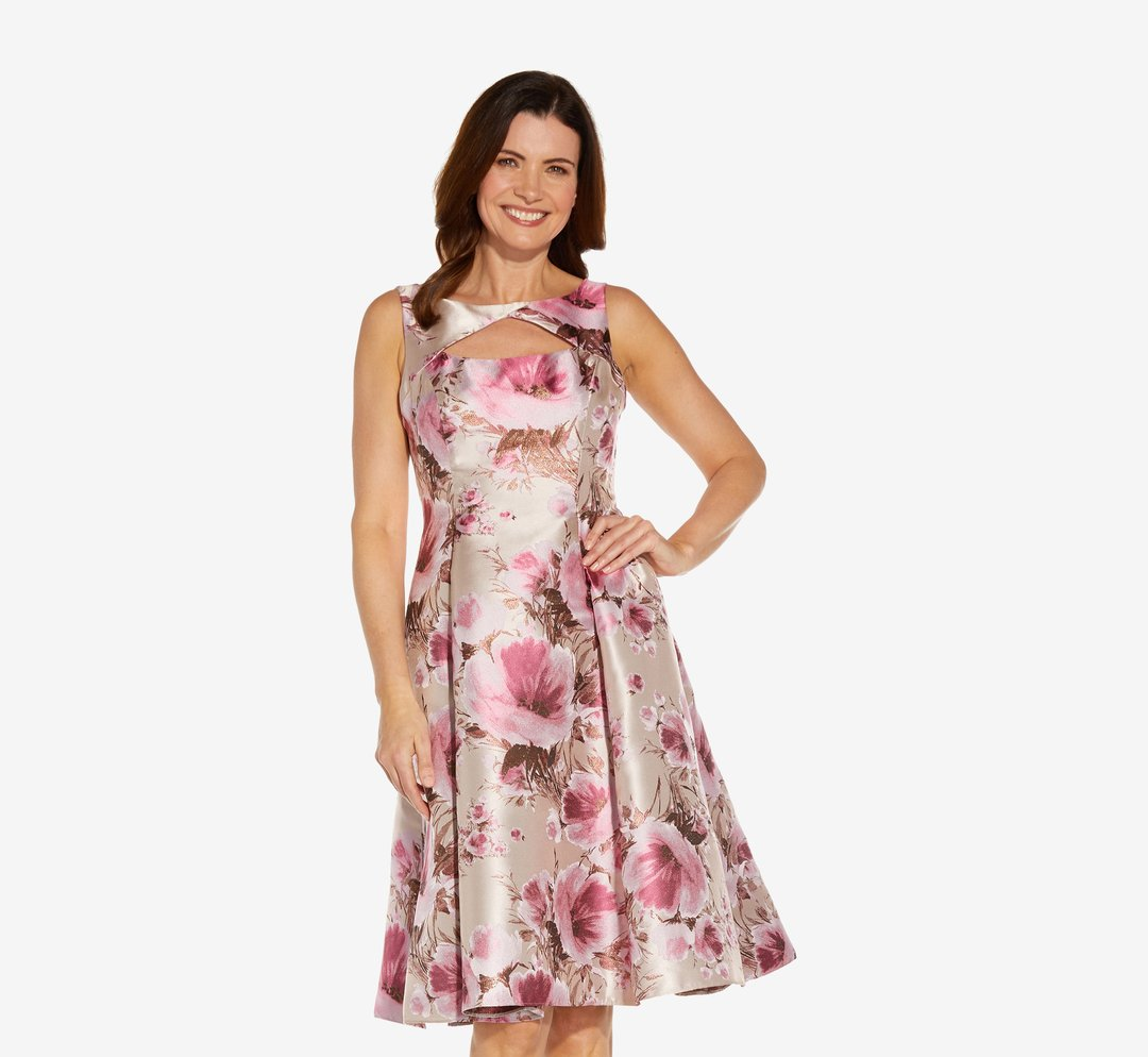 Adrianna Papell Floral Jacquard Fit And Flare, £175.00