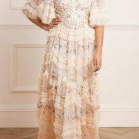 Needle & Thread Bridal Lalabelle Gown Cream Multi