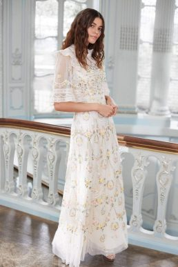 Needle & Thread Reverie Rose Gown Ivory Multi