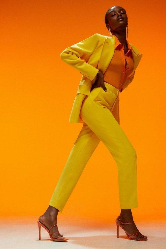 Compact Stretch Slim Leg Trousers