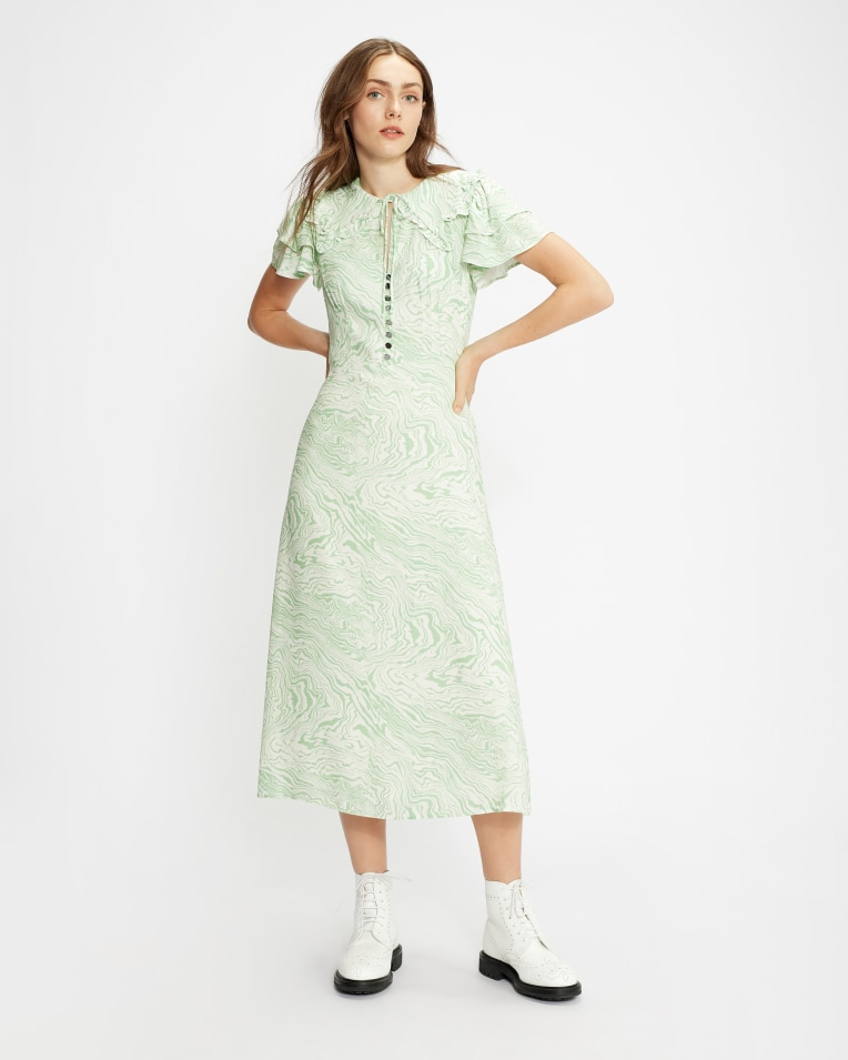 RHOSILI Collar Detail Dress
