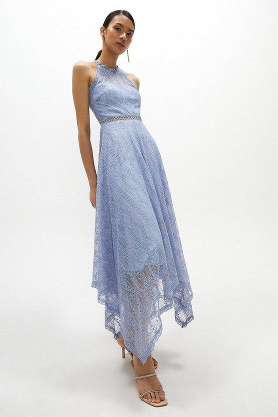Lace Halter Neck Maxi Dress