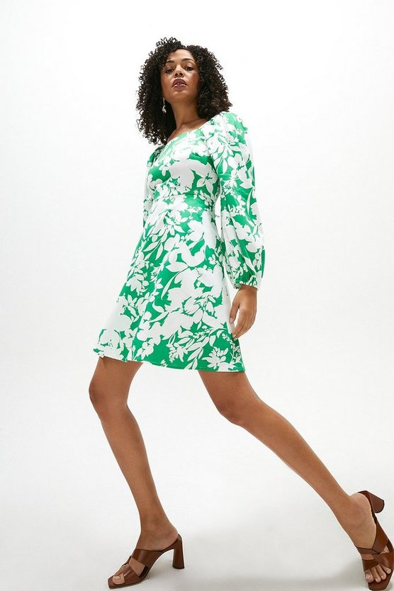 Oversized Sleeve Mini Dress