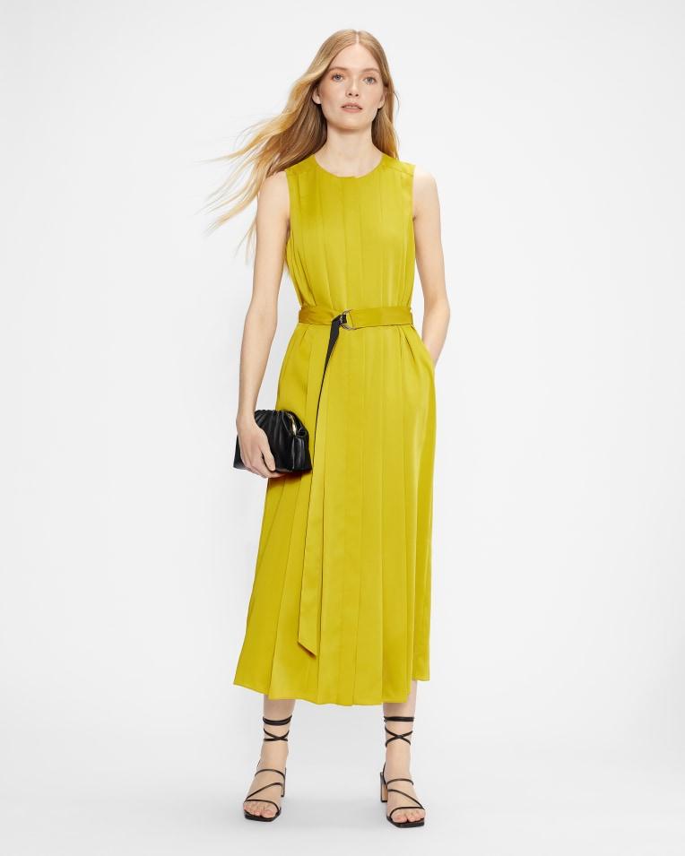 PLEANA Midi Pleat Dress