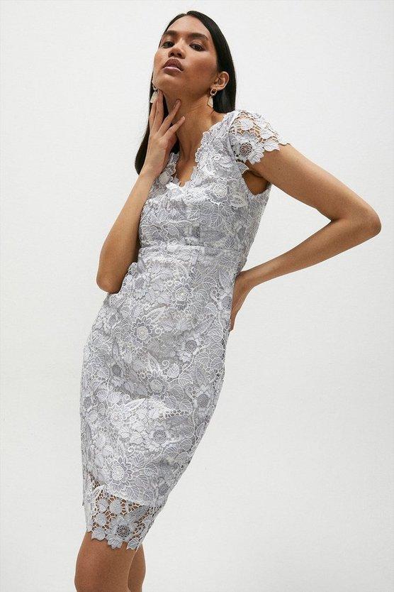 Blossom Crochet Lace Cap Sleeve Shift Dress