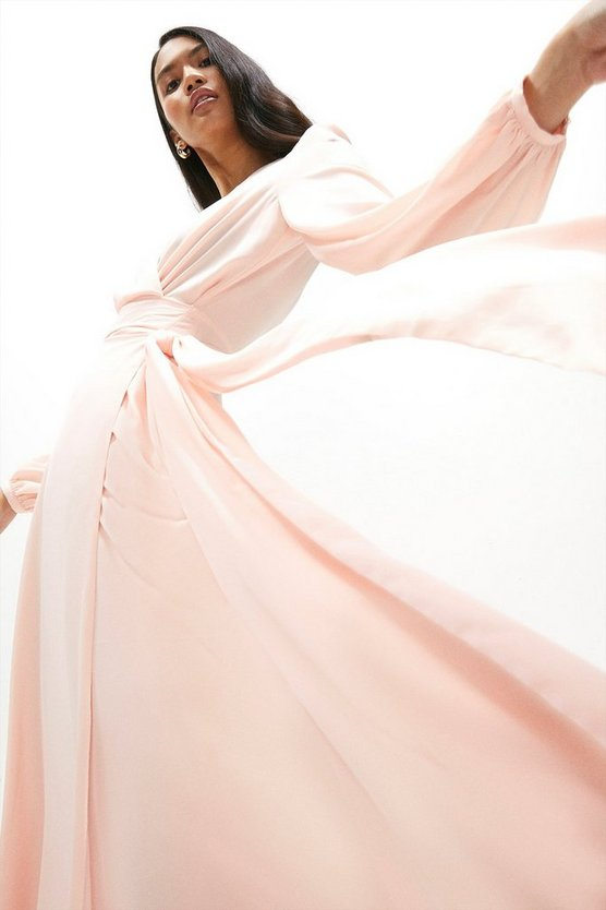 Belted Maxi Wrap Dress