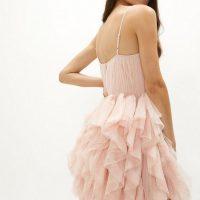 Coast Statement Frill Skirt Mini Cami Dress Blush Light Pink