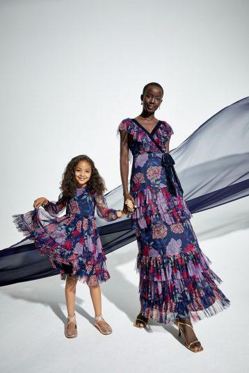 Coast Tulle And Velvet Mix Wrap Floral Bridesmaid Maxi Dress Purple Multi