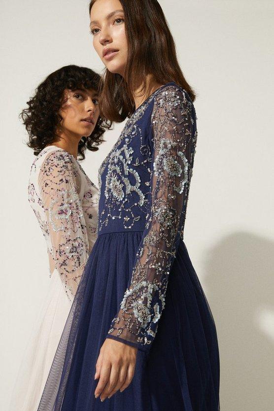 Oasis Cluster Embellished Maxi Dress