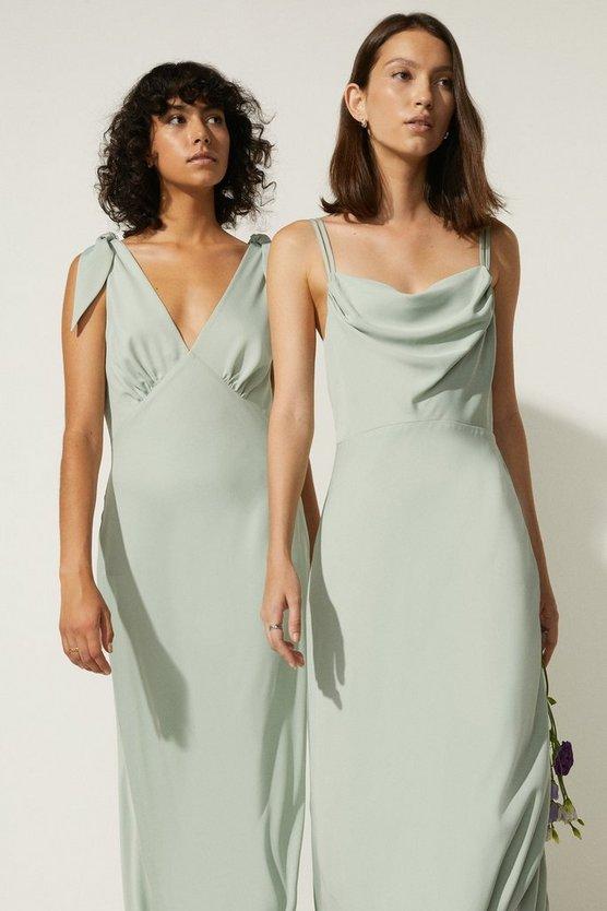 Oasis Cowl Double Strap Midi Dress