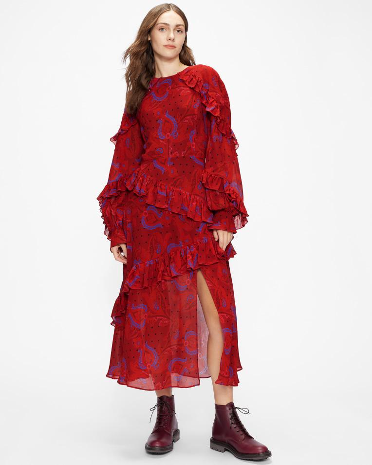 ENRQETA Frilled Printed Dress £375