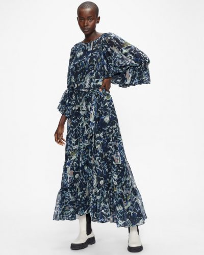 FIRELLA Oversized Midaxi Dress with Sash Tie £250
