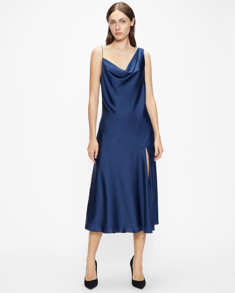 KAAIRA Asymmetric cowl neck slip dress £195