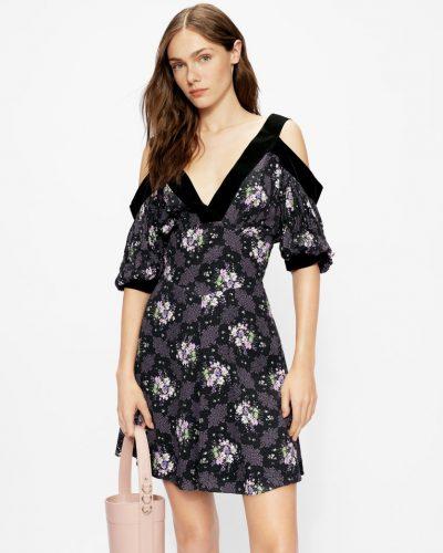 LEILIA Cold shoulder mini dress £225