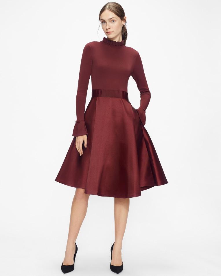 ZADI Knitted Frill Full Skirt Dress £195