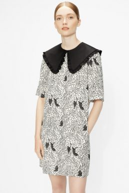 Ted Baker OSCALA Cat print mini dress Black White