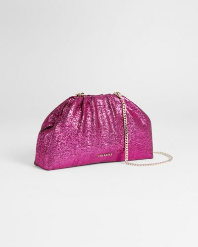 DONNER Gathered Slouchy Glitter Clutch £95