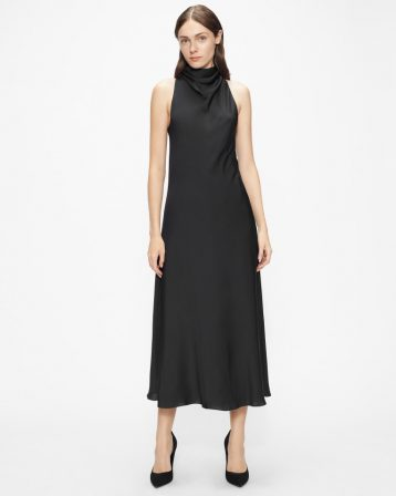Ted Baker JOIYA Cowl Neck Sleeveless Midi Dress Black