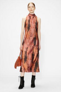 Ted Baker MIRAEYA High neck printed sleeveless midi dress Black Coral Multi